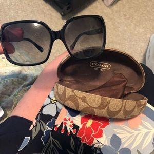 Black coach Sofia sunglasses